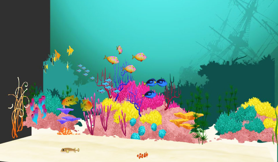 interactive virtual 3D aquarium design